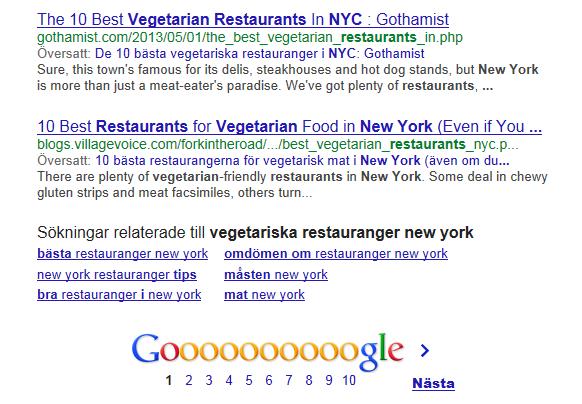 skriva för google