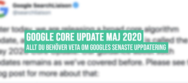 Google Updatering Maj 2020